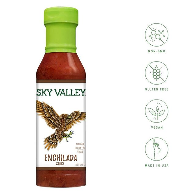 Our enchilada sauce combines the highest quality tomatoes, peppers and spices for a well-balance sauce that will add a flavorful, fresh-tasting heat to your enchiladas. ⠀ .⠀ .⠀ .⠀ .⠀ .⠀ #glutenfreediet #skyvalleyfoods #exploreorganic #naturesflavors #howtobeorganic #foodporn #foodstagram #eatitfortheinsta #foodgasm #delicious #feedfeed #thefeedfeed #huffposttaste #foodie_features #foodoftheday #foodpost #foodaddict #food #foodie #organic #cleaneating  #vegan #vegetarian #yum #foodporn #foodstagram #glutenfree #flexitarian