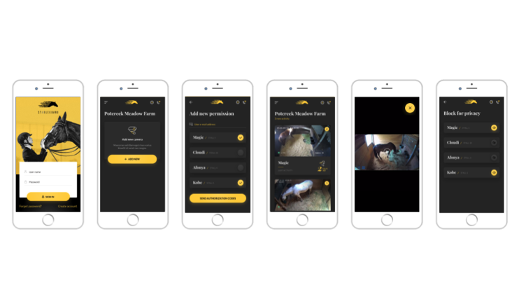 The StableGuard app features live video, permission and privacy settings and more.