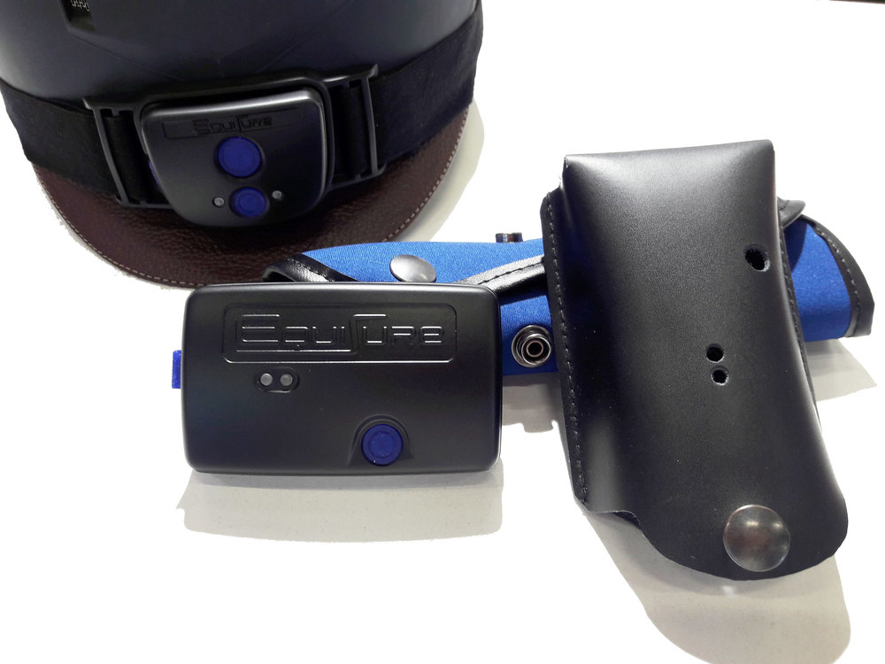 Close up view of the EquiSure wearable devices.