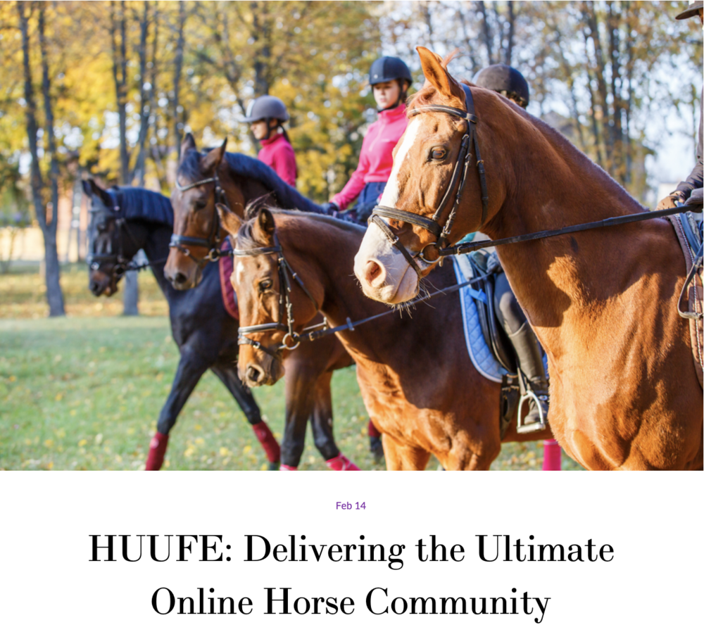 "#8 Huufe - ""When we look at the future of equestrian technology, I think the Huufe app definitely has something special to offer."""
