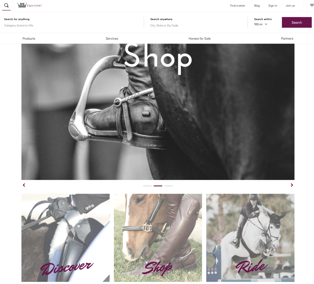 The homepage of Equivont features clear navigation to help you find what you are looking for.