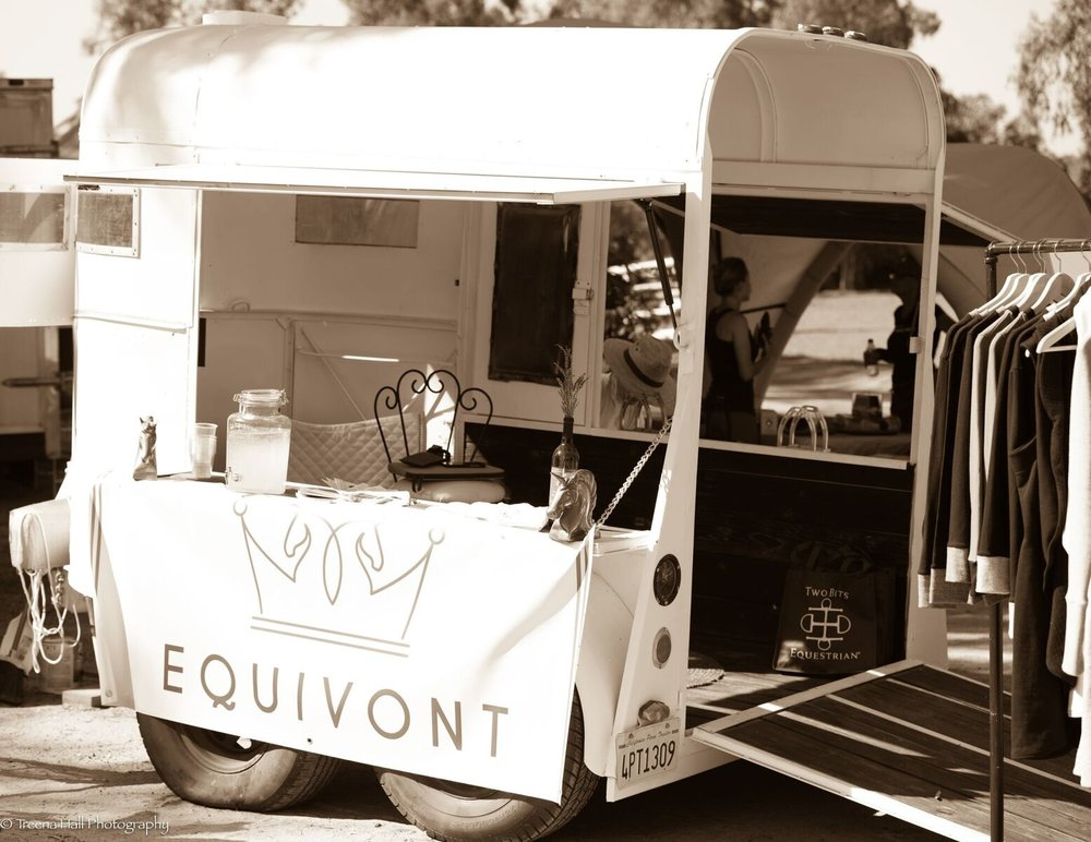 You can find Equivont and their Designer Showcase trailer (a converted horse trailer where you can browse products from their site) at some of the top west coast events this show season.