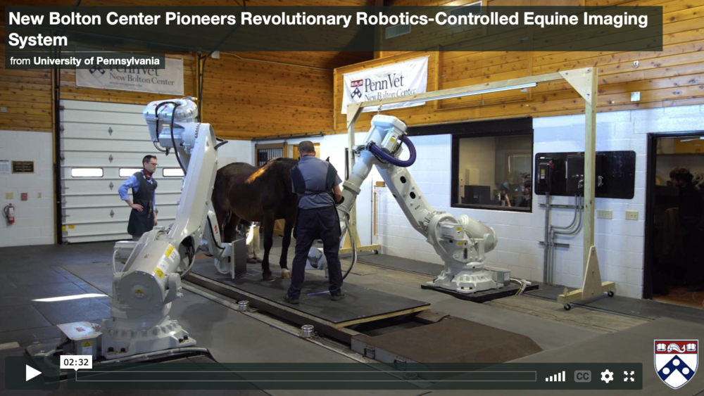 Robots provide state-of-the-art imaging at the University of Pennsylvania's New Bolton Center.