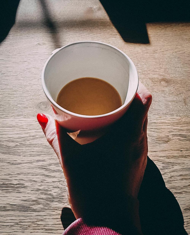 coffee cup in sunshine