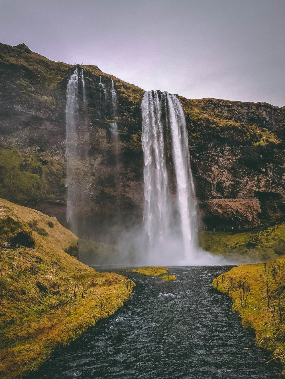 Seljalandsfoss waterfall, Iceland.
