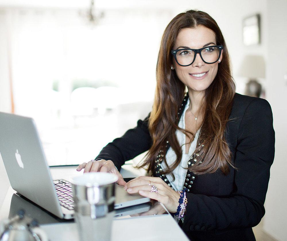Giorgia nach dem Businessmeeting