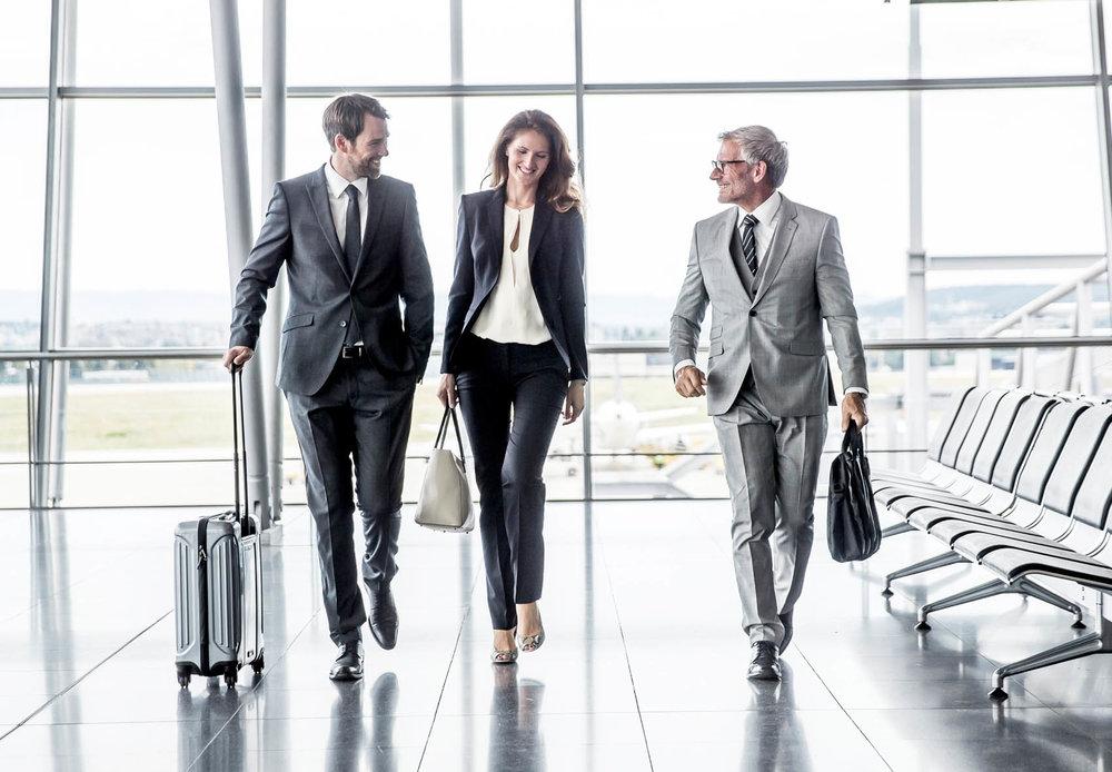 Businesstreffen am Flughafen