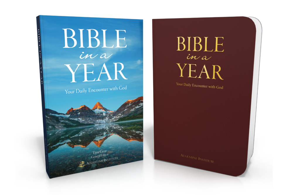 Bible in a Year  will be available in two versions, an affordable paperback edition ($29.95) and a keepsake flex leather edition ($49.95). Learn more at  CatholicBibleInAYear.com