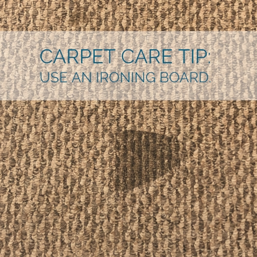 Carpet Care Tip Use an ironing board.jpg