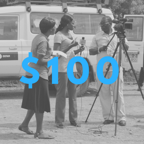$100 will support a in the field reporting mission for a local journalist.  -