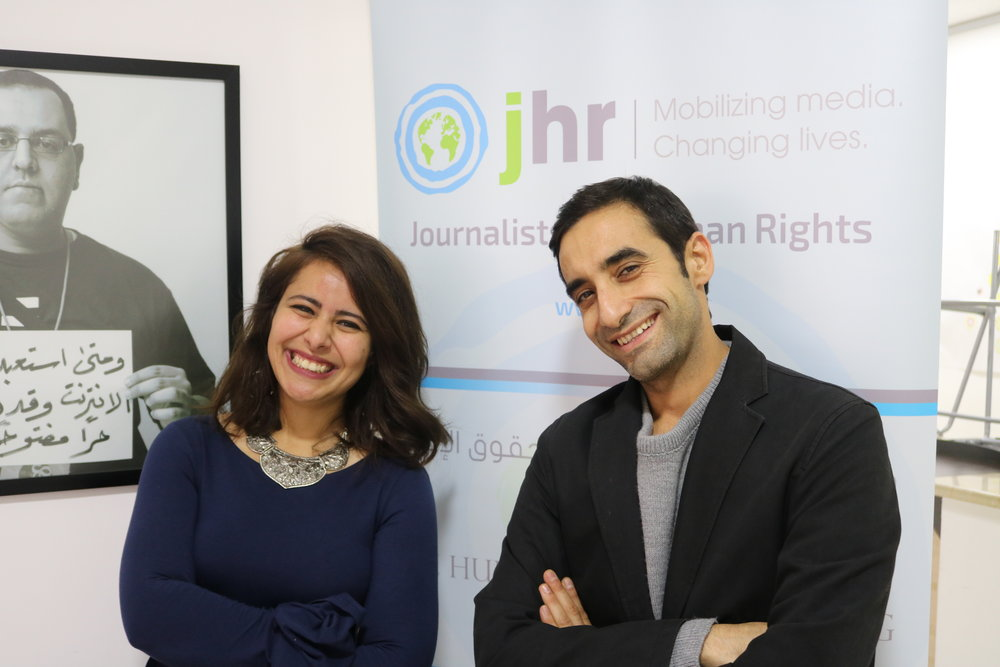 Nour with JHR In Country Program Manager & Expert trainer, Mohammed Shamma.
