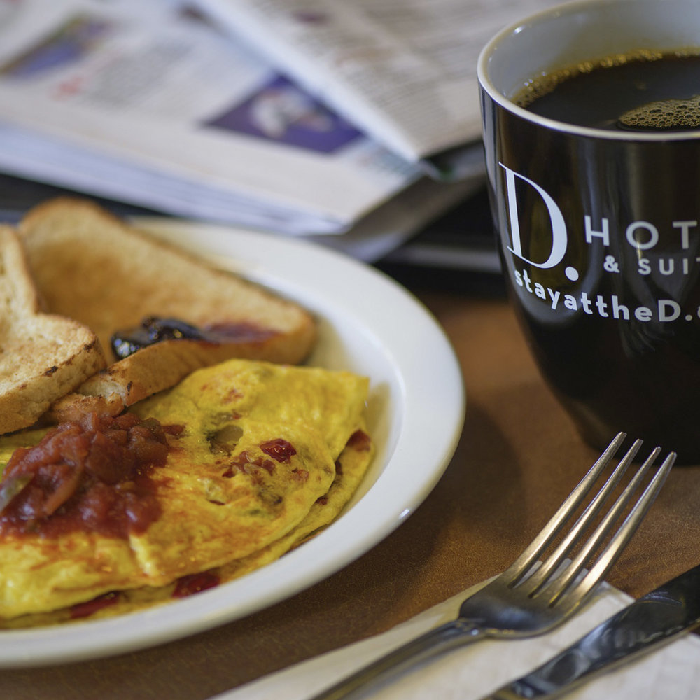 Complimentary Full Breakfast - Start your day strong with D. Hotel Suites & Spa's complimentary breakfast, with several delicious breakfast options.