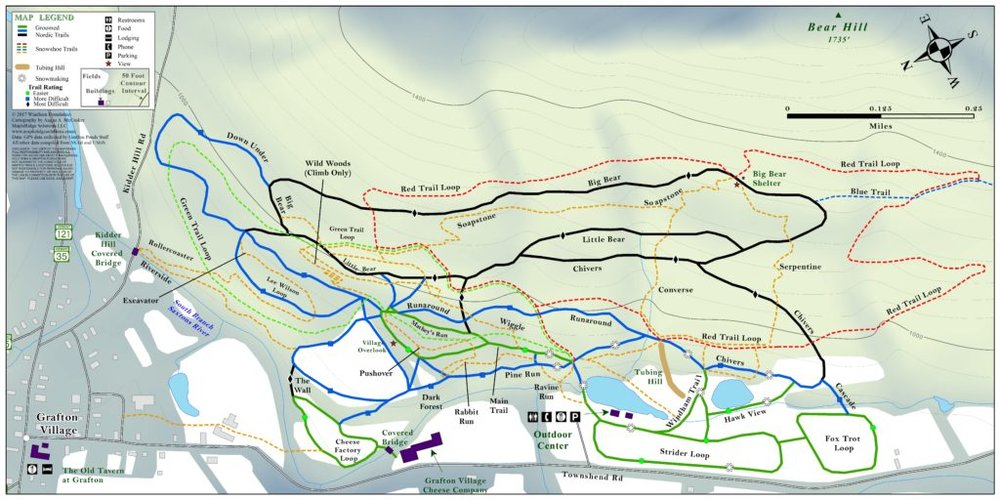 Grafton Trail Map - Click on the image for a full listing of current trail statuses.