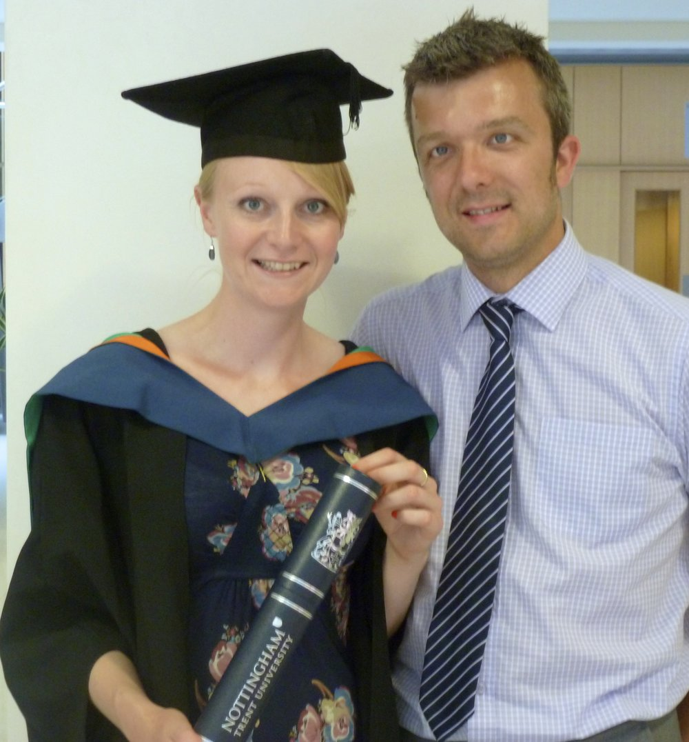 Lauren & her husband Nick, at her FdSc Animal Science graduation in 2013