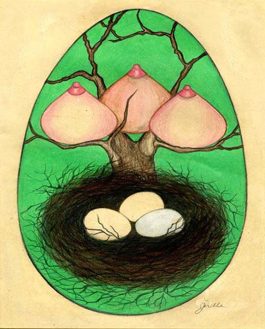 Jerelle Kraus Drawing - Fecundity