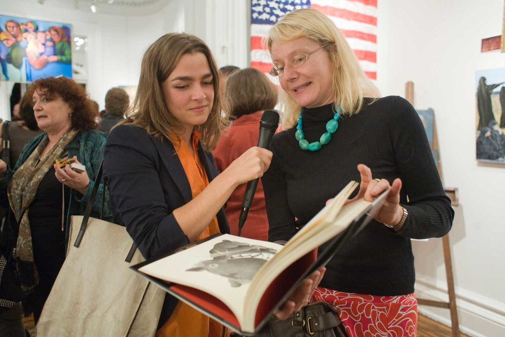 Illustrators Beata Szpura and Valerie Suter - All the Art that's Fit to Print Book Launch Party