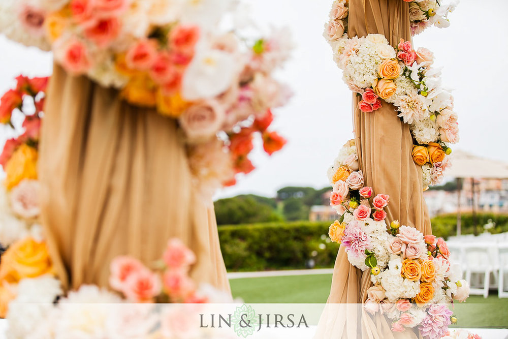 4 floral-wrap-wedding-columns-laguna-cliffs-marriott.jpg