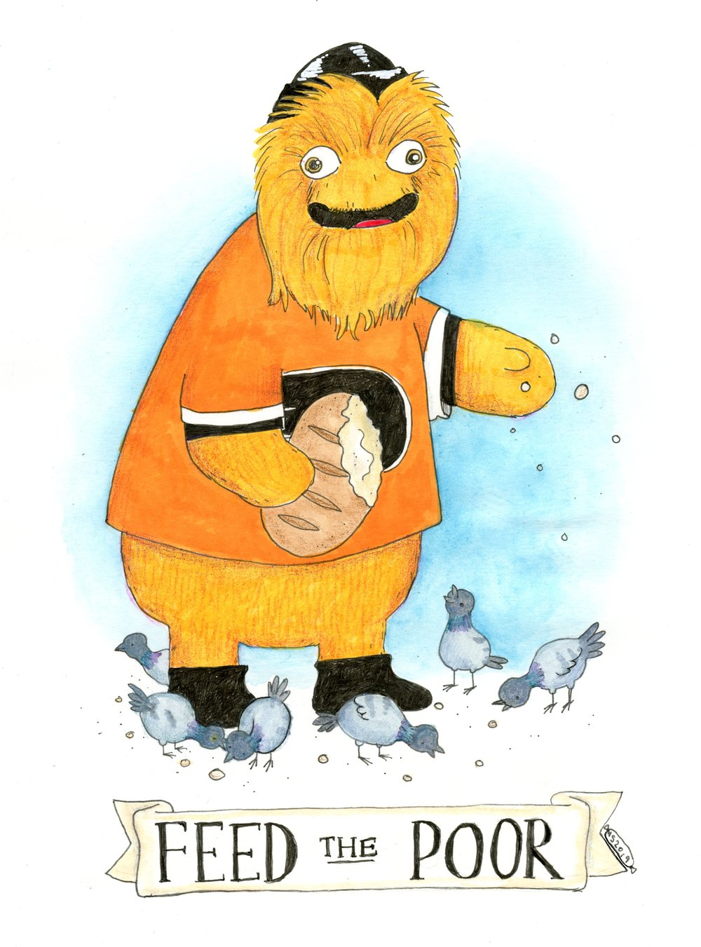 Gritty Feeds the Poor