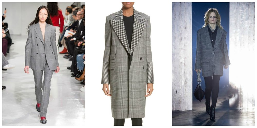 L: Calvin Klein, C: Stella McCartney, R: Alexander Wang