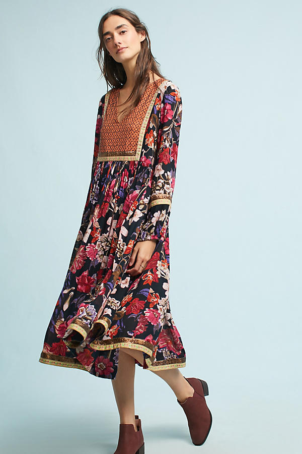 Anthropologie peasant dress