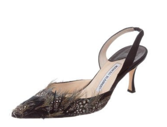 Manolo Blahnik, previously available at The Real Real