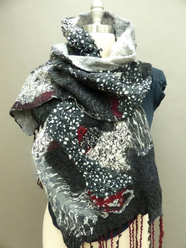 Regina's felted wool scarf