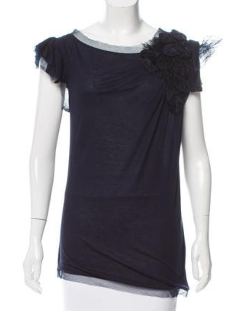 Valentino feather trimmed top