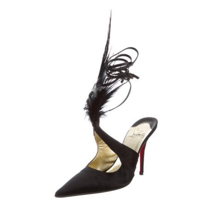 Christian Louboutin feathered pumps