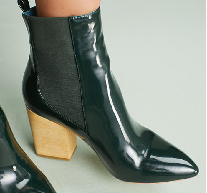 Green patent booties.PNG