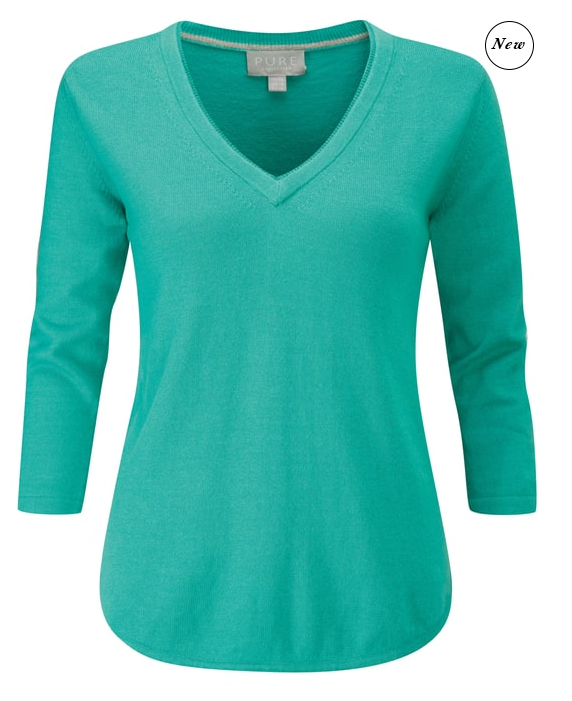 Pure Collection double v neck