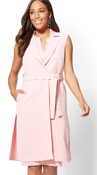 NY & Co sleeveless pink vest