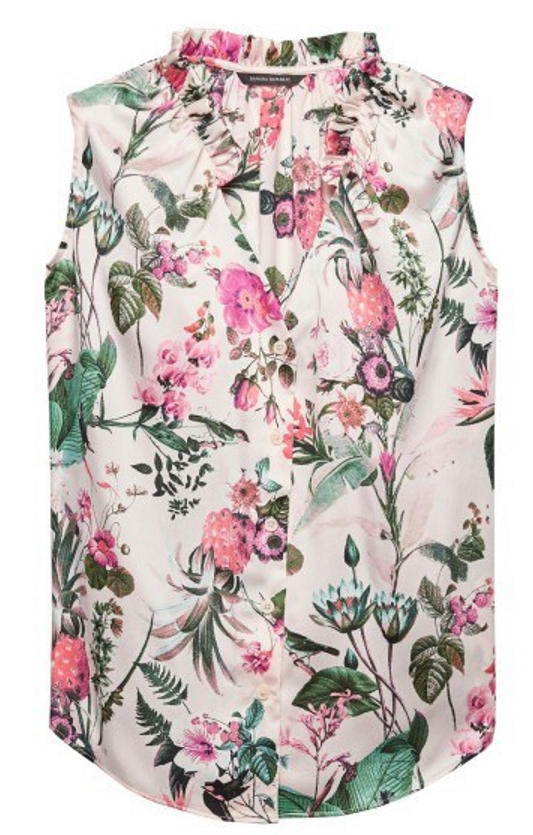 Banana Republic floral shell