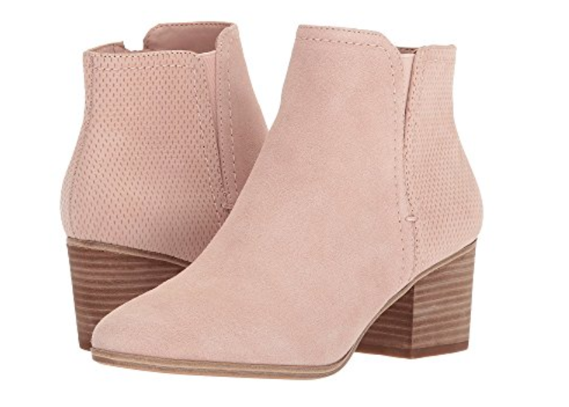 Aldo pink suede boots at Zappos