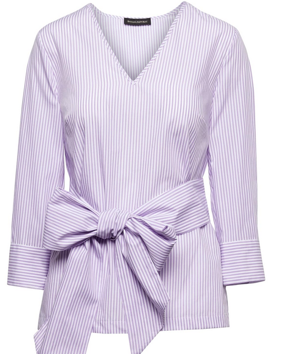 Banana Republic lavender striped shirt