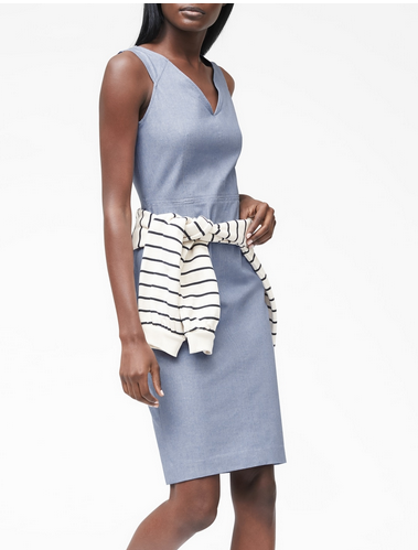 Banana Republic light blue shift dress.PNG