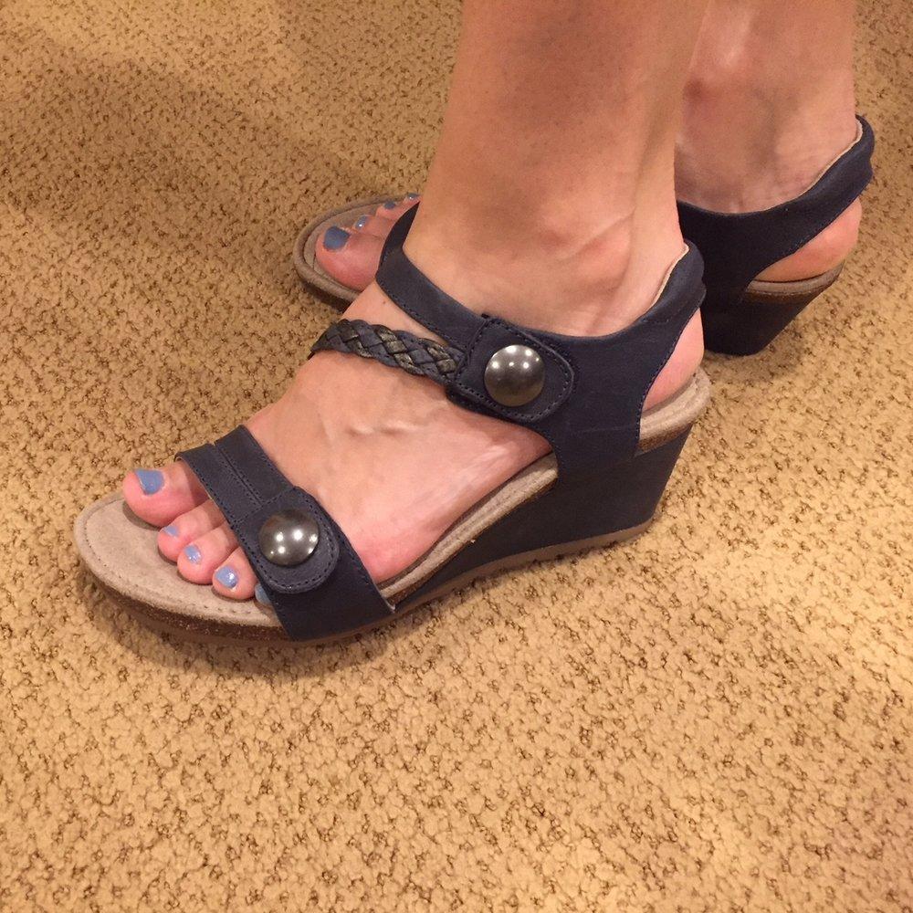 Kim's new Aetrex sandals