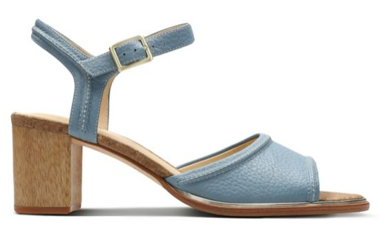Clarks blue leather sandals
