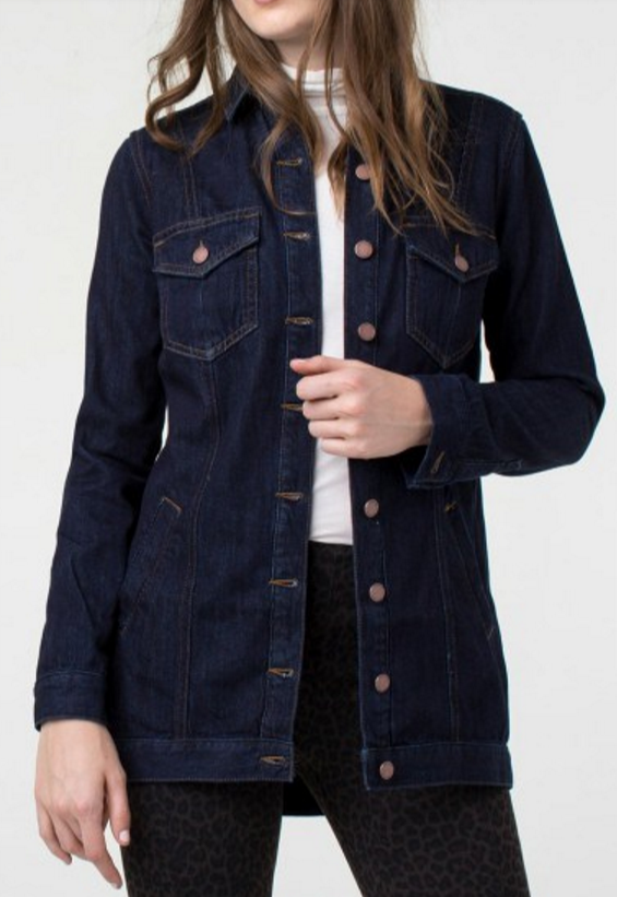 Liverpool high low denim jacket