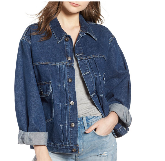 If you really feel oversized is the right look for you, how about this version from Levis? I like the totally unexpected pocket placement!