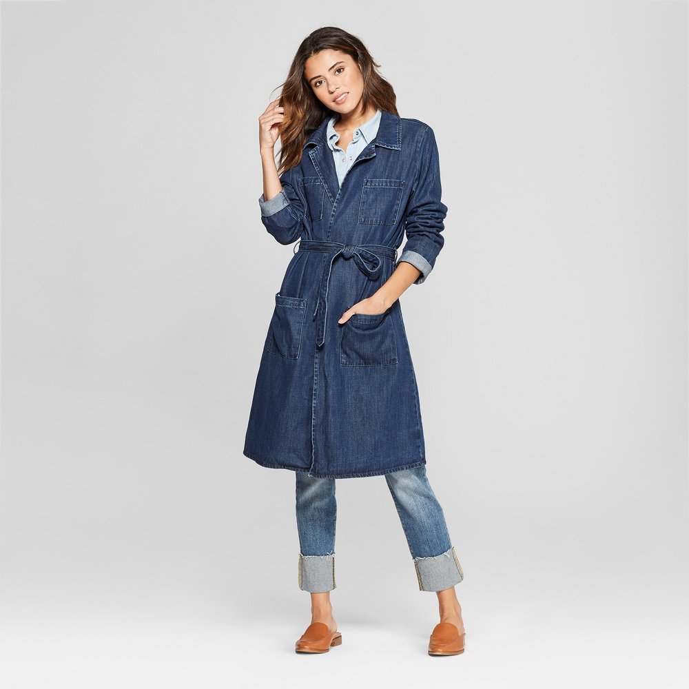 Target denim trench coat