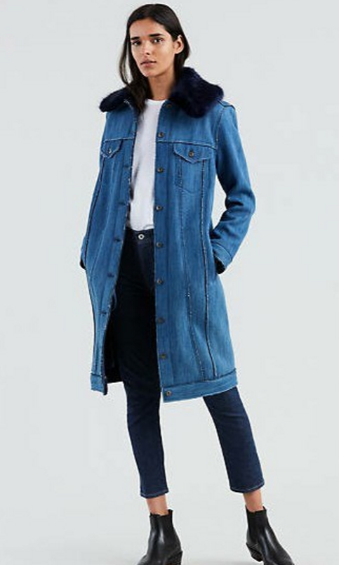Levis trucker trench coat