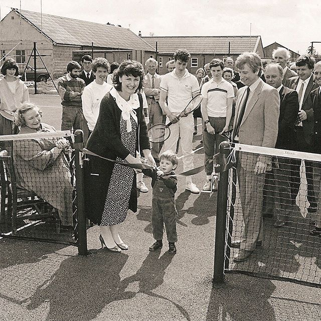 A few pics from the archives when the Brian Whitehead Leisure Centre was opened in November 1984. The two sisters Jenni and Miranda will be joining us on Saturday to open our newly resurfaced courts. Their father was Brian Whitehead. #throwbackthursday #archives #1984 #tennis #open