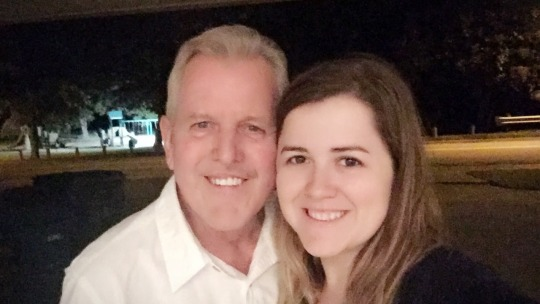 Daddy and me, on my birthday in 2016