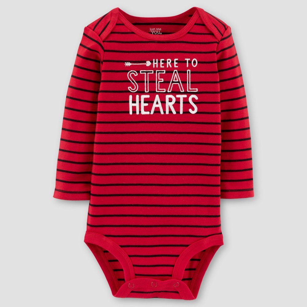 - Here to Steal Hearts Long Sleeve Bodysuit//