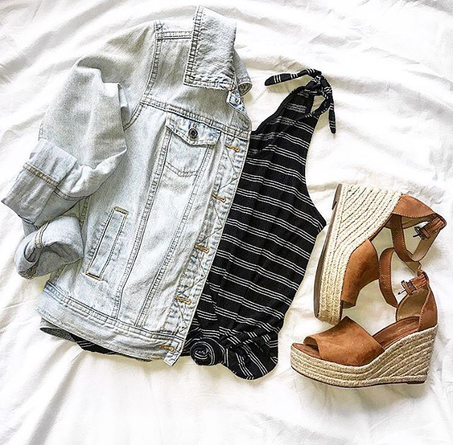 Fav little combo right now!! 🙌🏼This white wash denim jacket pairs perfectly with this classic black and white striped top!! And can not say enough good things about these wedges!! And all from @target!!🎯 . . . . . #target #targetstyle #denim #denimjacket #whitewashdenim #classic #bland&white #stripes #wedges #perfectcombo #ootd #ootdfashion #stlstyle #ootdstyle #style #styleblog #styleblogger #fashion #fashionblog #fashionblogger #lifestyle #lifestyleblog #lifestyleblogger #beauty #beautyblog #beautyblogger #momma #mommastyle #momlife #mommablog