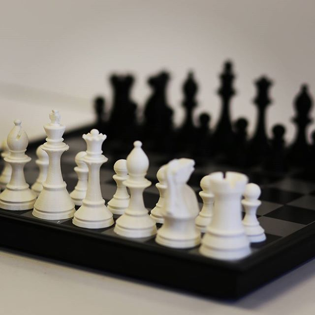 This is our 3D Printed Chess set! Get one custom made by us! Use your favorite characters, or even your own miniature. www.Moolean.com #moolean #mooleandesign #rapidprototyping #prototyping #3dprototyping #moolean3d #3dprinted #3Dprinting #3Dprint #3Dscan #tech #moolean #LasVegas #future #technology #LV #PLA #Nevada #3Dprinted #3Dmodels #Sculpture #Ultimaker