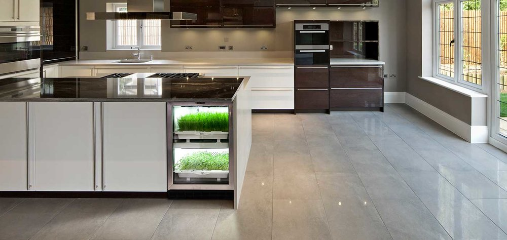 Future Kitchens Will Be Equipped To Grow Fresh, Organic Produce, Herbs, And  Microgreens Year Round Without Chemicals And With Automatic Watering Cycles.
