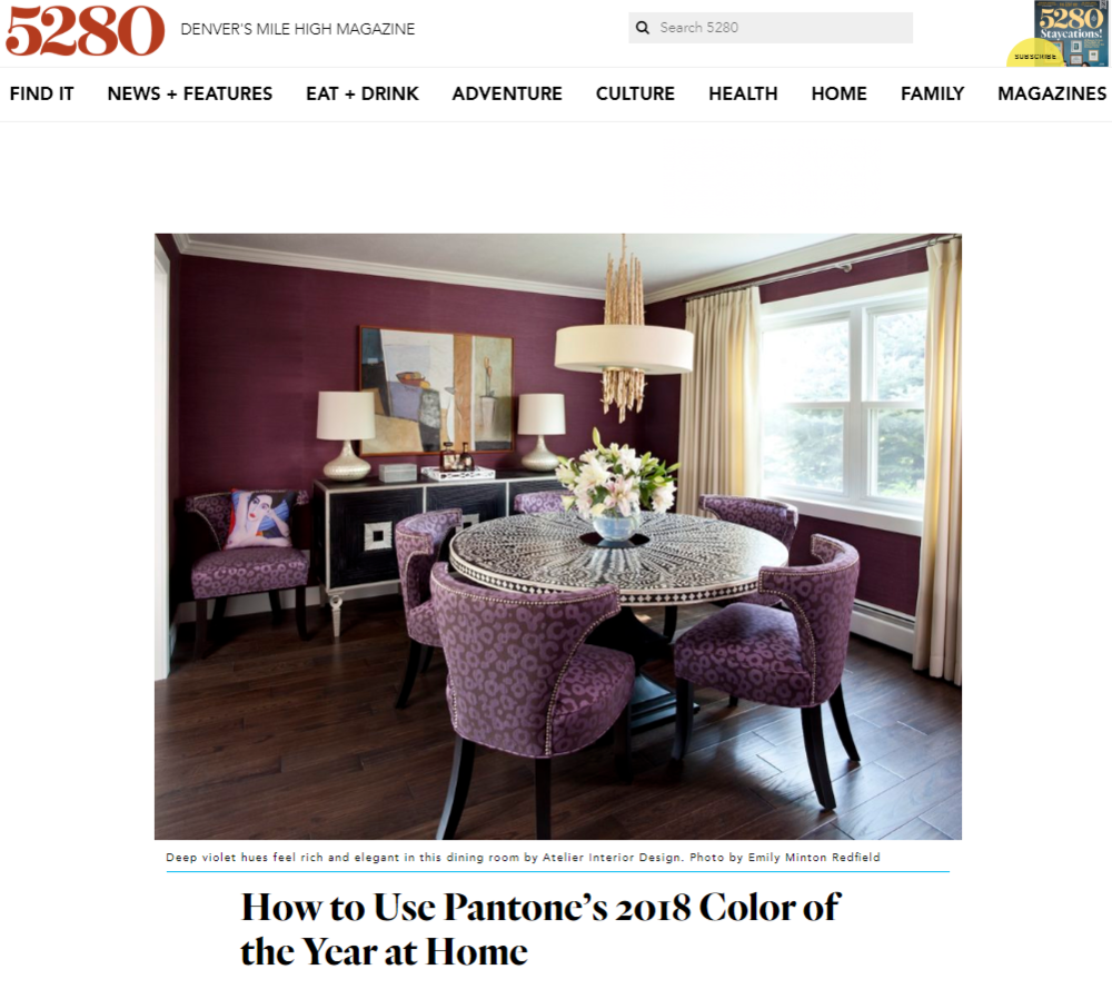 5280 Home: Color Of The Year