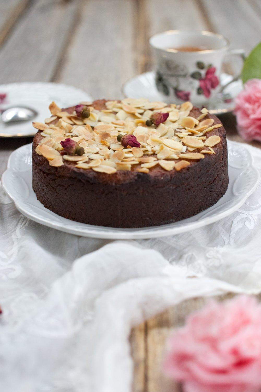 Almond and Rosewater Tea Cake