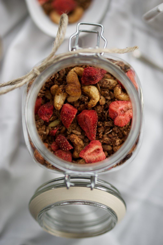 Chocolate and Strawberry Granola